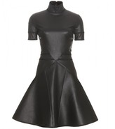 FIT-AND-FLARE LEATHER DRESS
