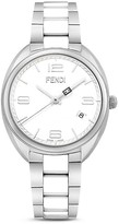 Fendi Momento Two-Tone Ceramic Watch, 34mm