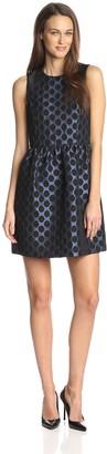 4.collective Women's Dot Jacquard Flirty Dress