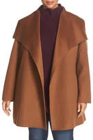 T Tahari 'Ella' Wrap Coat (Plus Size)