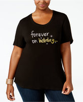 NY Collection Plus Size Holiday Graphic T-Shirt