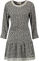 Current/Elliott The Tennant cutout printed twill mini dress