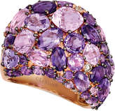 LeVian Le Vian Strawberry & Nude Amethyst (8-1/2 ct. t.w.) & Diamond (1/8 ct. t.w.) Statement Ring in 14k Rose Gold