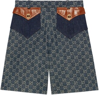 Gucci Eco washed organic denim shorts