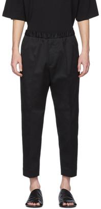 Jil Sander Black Cotton Twill Trousers