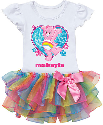 Box Girls Tv's Toy Box TV's Toy Box Girls' Tee Shirts - Care Bears Cheer Bear Dance Rainbow Tutu Tee - Toddler & Girls