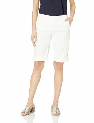 NYDJ Women's Bermuda Linen Short with ROLL Cuff