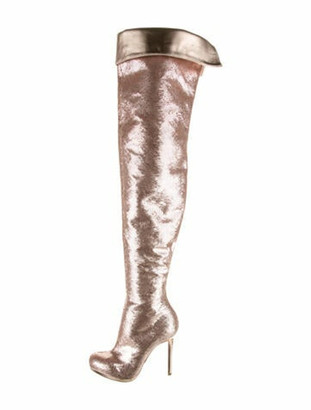 Christian Louboutin Alta Over-The-Knee Sequin Boots Pink
