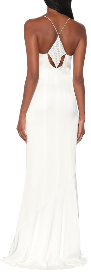 Thumbnail for your product : Galvan Venice embellished crepe bridal gown