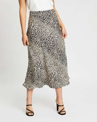 Atmos & Here Atmos&Here - Women's Neutrals Midi Skirts - Rosie Midi Skirt - Size 6 at The Iconic