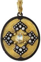 Armenta Old World Iris Shield Enhancer Pendant