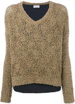 Brunello Cucinelli V-neck jumper - women - Silk/Cotton/Polyamide/Acetate - S