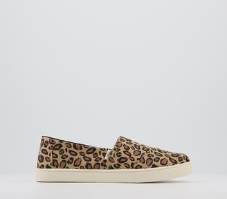 Toms Alpargata Cupsole Slip Ons Leopard Print