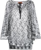 Missoni round neck shift dress