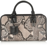 Loewe Amazona Small Leather-trimmed Python Tote - Snake print