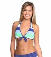 Tommy Bahama Swimwear Skipper Stripe Reversible Halter Bra Bikini Top 8117683