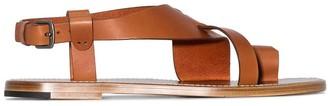Bottega Veneta cross-over strap sandals