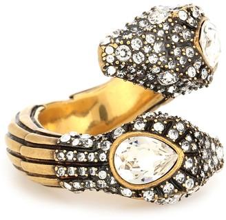 Gucci Crystal-embellished snake ring