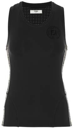 Fendi Logo-print tank top