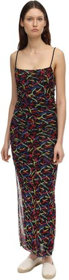 M Missoni Printed Mesh Long Dress