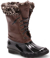 Sperry Girls' Faux Fur Saltwater Boots