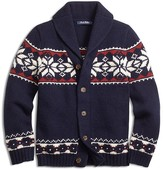 Brooks Brothers Boys' Wool Blend Snowflake Sweater - Sizes 4-16