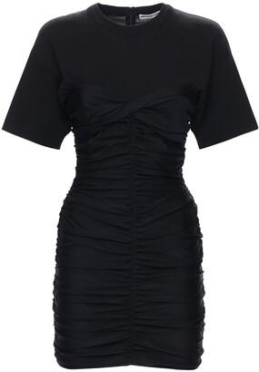 Alexander Wang Ruched Bodycon Cotton Mini Dress