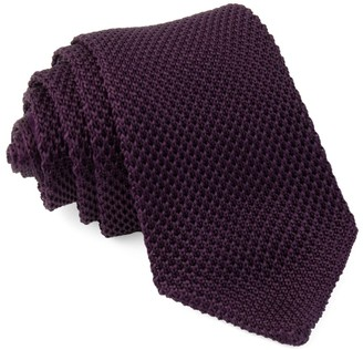 The Tie BarThe Tie Bar Eggplant Pointed Tip Knit Tie