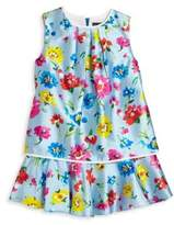Oscar de la Renta Toddler's & Little Girl's Scattered Flower Print Dress