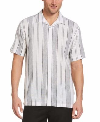 Cubavera Linen Blend Yarn-Dyed Striped Shirt