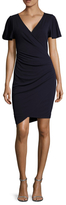 Nicole Miller Jersey Drape Sheath Dress