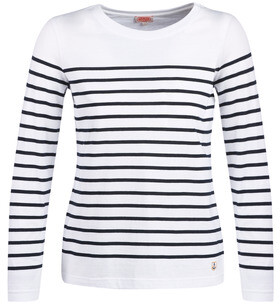 Armor Lux YARIL women's Long Sleeve T-shirt in White