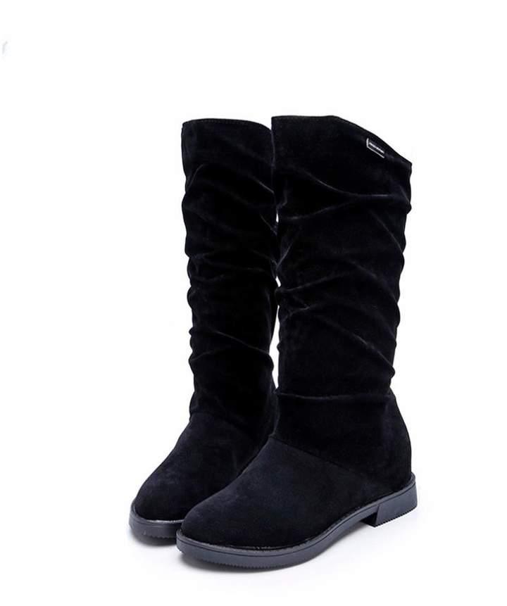 e652005e0c5bb XILALU Autumn Winter Boots Women Sweet Boot Stylish Flat Flock Shoes Snow  Boots (US 8, )