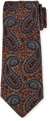 Kiton Men's Paisley Silk Tie