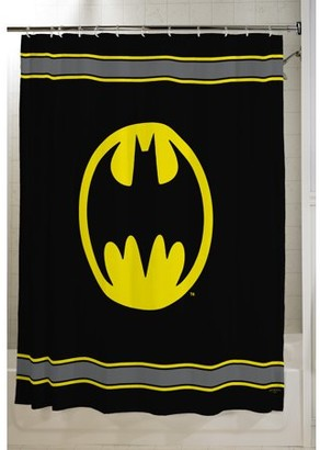 "Batman Kids Bathroom Decorative Fabric Shower Curtain, 72"" x 72"""