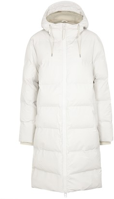 Rains White quilted shell coat