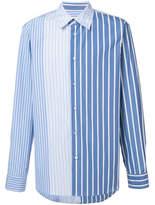 Marni Contrast Stripe Shirt - Blue - Size IT48