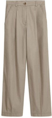 Arket Wide-Leg Cotton Chinos