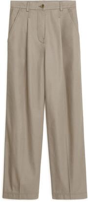 Arket Wide-Leg Cotton Chinos