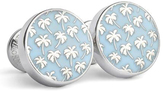 Robert Graham Blue & Silvertone Cable Beach Cuff Links
