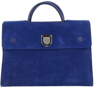 Christian Dior Diorever Blue Suede Handbags