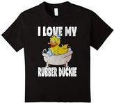 Men's I Love My Rubber Duckie Funny Cute Retro Bubble Bath T-Shirt Medium