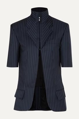 Situationist Pinstriped Wool-blend Blazer - Blue