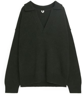 Arket Wool Polo Jumper