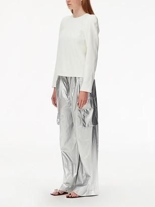 Tibi Pleated Metallic Cargo Pants