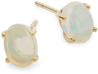 Saks Fifth Avenue 14K Yellow Gold Opal Stud Earrings