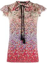 Etro floral ruffle blouse