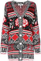 MSGM rose patterned knit cardigan