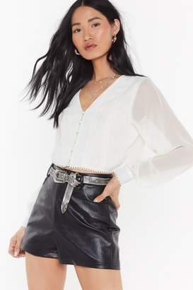 Nasty Gal Womens Boho Sheer Crop Top - black - 14