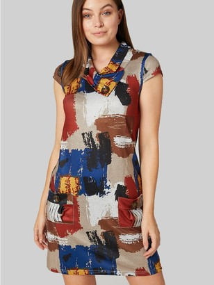 M&Co Izabel brushstroke print shift dress